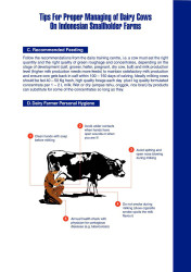 Tips for Proper Managing of Dairy Cows on Indonesian Smallholder Farms (C-D)
